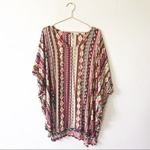 Other - 100% Rayon Indonesian Colorful Frill Cover Up